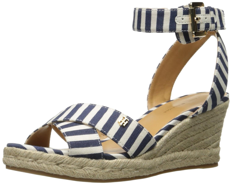Tommy Hilfiger Women's Gorgis Wedge Sandal B01M4LTIJS 12 B(M) US|Navy