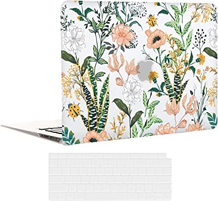 Macbook Air 2018-2020 Release A2337 M1 A2179 A1932 Flower Plastic Pattern Hard Case Cover for MacBook Air 13 Inch MacBook Air 13 Case