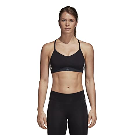 6b66b15009 Amazon.com  adidas Training All Me 3 Stripes Bra  Sports   Outdoors