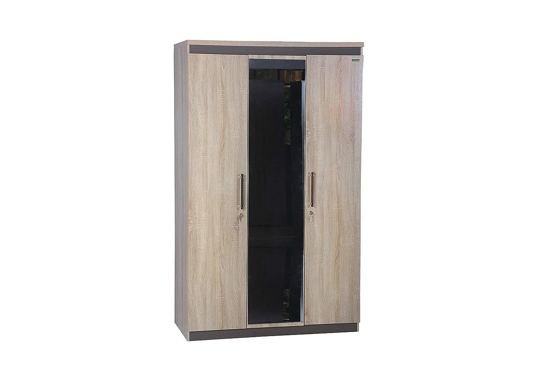 Zuari Flow 3 Door Wardrobe (Sonoma Oak)