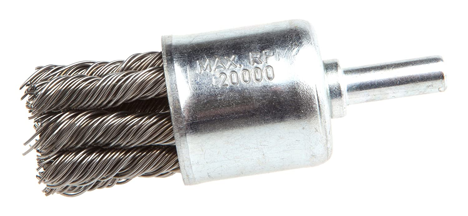 Coarse Twist Knotted with 1//4-Inch Shank 3//4-Inch-by-.020-Inch Forney 72266 End Brush