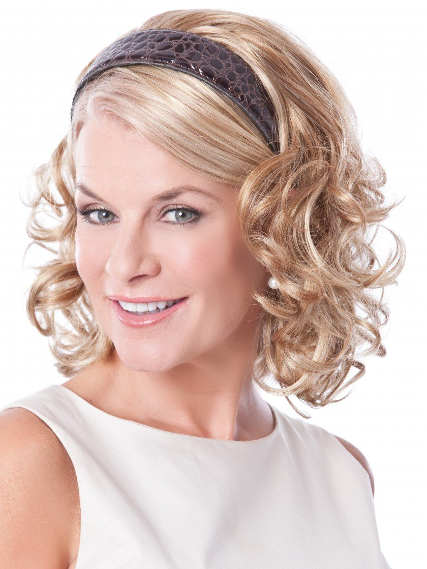 Amazon.com   Headband Falls Curls Toni Brattin Attached Curly Fall Womens  Extension - BLACK   Beauty 6ef525759a4