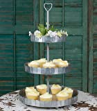 Vintage Style 3-Tier Round Metal Wedding Party Dessert Tree Tower Display Heart Cupcake Stand