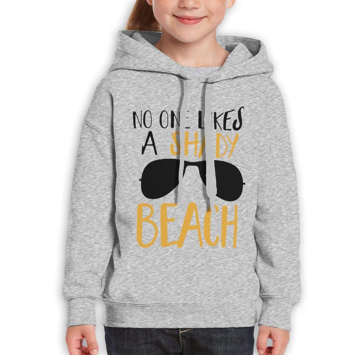 Boys Girls No One Likes A Shady Beach Glasses Teen Youth Fleeces Gray XL