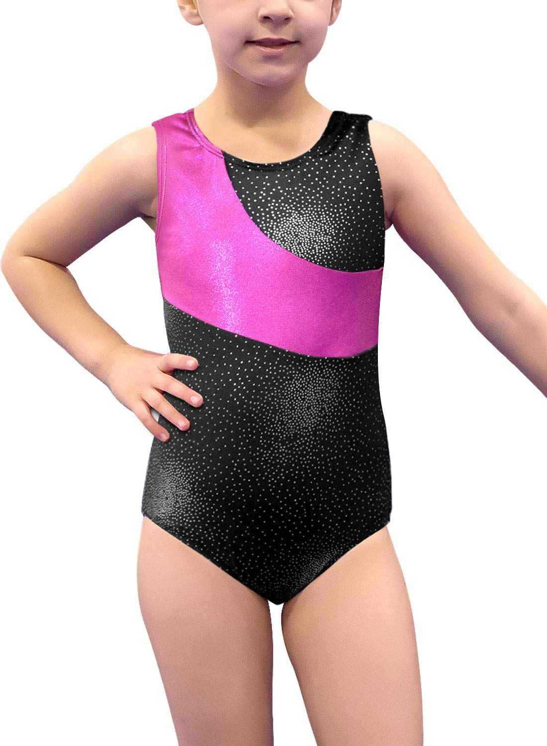 Gymnastics Leotard for Girls Stripe Starry Sky Long Sleeves Athletic Unitard for Little Girls 2-15 Years by DAXIANG