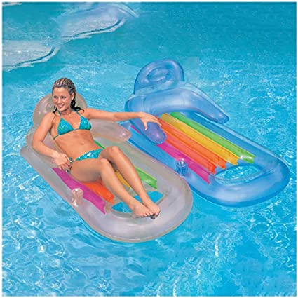 Wonderful Inflatable Chill Out Pool Chair With A Cup Holder /& Handles
