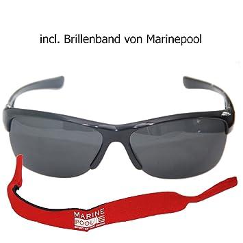 Gafas de sol polarizadas gafas de los navegantes profesionales con cinta de colour azul marino de