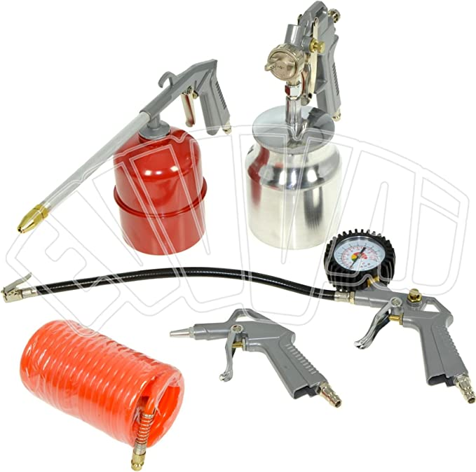 Kit de aire profesional 5 pzs. Michelin CAKITMICHELIN pistolas de pintar, soplar, petrolear, lavar y espiral