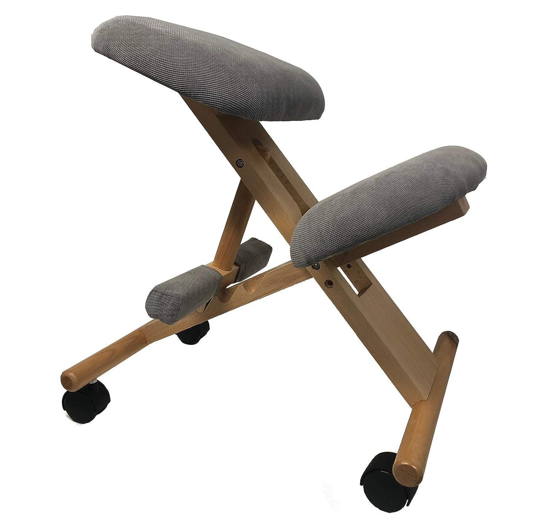 Sedia ergonomica Sgabello con poggiapiedi Snug Grigio