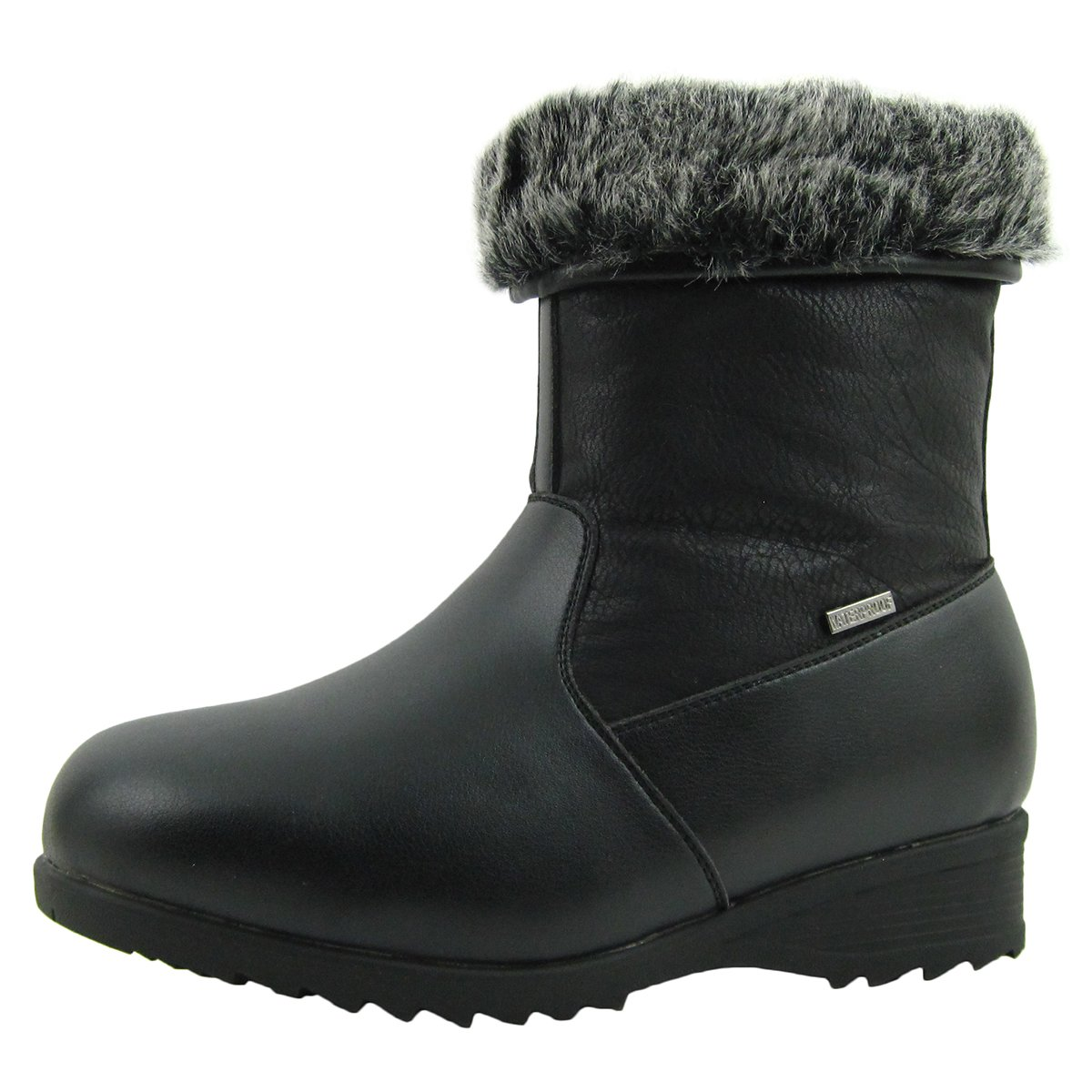 Comfy Moda Women's Winter Snow Boots Alaska (8, Black)