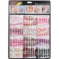 Lookatool 144pcs Mixed Set False Nail Tips Artificial Fake Nails Art Acrylic Manicure Gel
