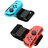 TalkWorks Joycon Wrist Band Straps for Nintendo Switch - Adjustable Right/Left Controller Joy cons Accessories - Ideal for Ju