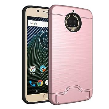 AVIDET Motorola Moto G5S Función del stent Funda Carcasa Case(Oro Rosa)