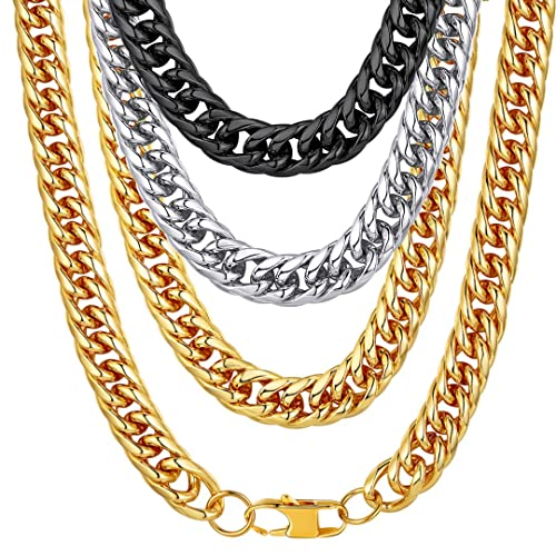 0616965f22d46 ChainsHouse Men Chunky Necklace 18K Gold Plated Hip Hop Jewelry 12MM ...