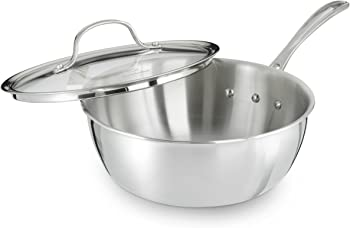 Calphalon Tri-Ply Stainless Steel 3-Quart Chef's Pan with Cover