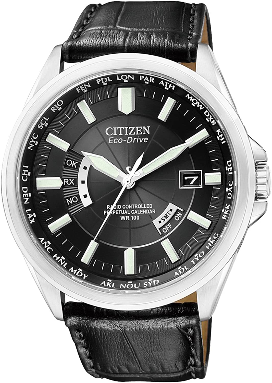 Citizen CB0010-02E - Reloj analógico de Cuarzo para Hombre, Correa de Cuero Color Negro