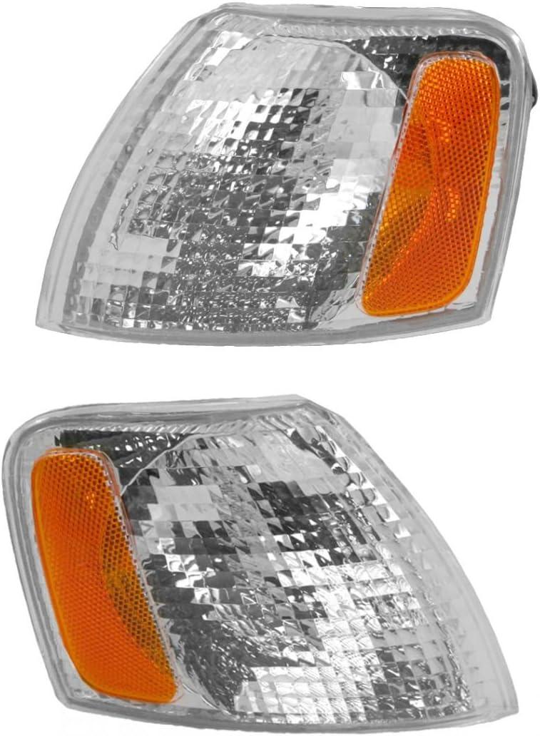 98-00 Ranger Corner Park Light Turn Signal Side Marker Lamp Left Right Set PAIR