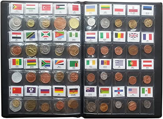 100 120 180 World Coins lot 60 Different country national flag Album Collection