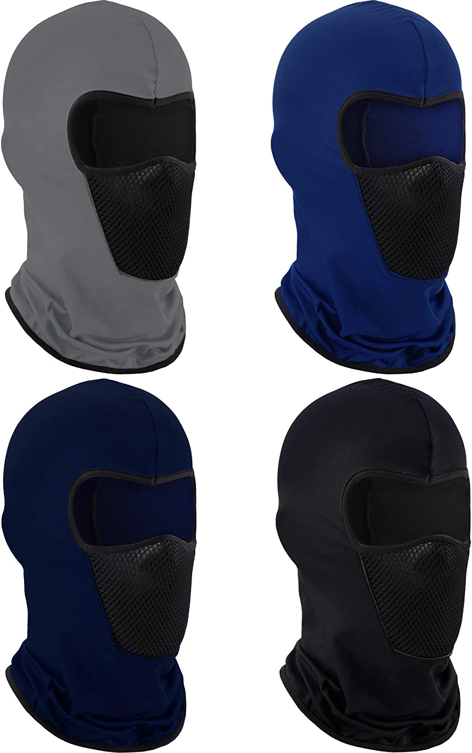 4 Pieces Summer Balaclava Face Mask Sun Dust Windproof Protection Mask Breathable Full Face Cover for Outdoor Activities(Solid Colors)