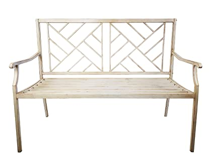Enjoyable Amazon Com Kanstar Outdoor Bench Garden Or Patio Steel Caraccident5 Cool Chair Designs And Ideas Caraccident5Info