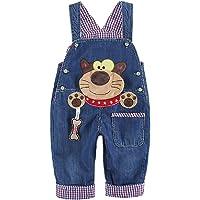 DEBAIJIA Baby Jungen Mädchen Denim Latzhose Kleinkind Hosenträger Jeans Overall Waschbär - Deutsche Gr.62-110