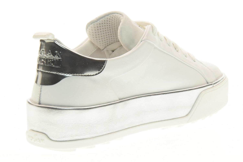 Sneakers Basse Hogan Rebel Piattaforma R320 BiancoArgento