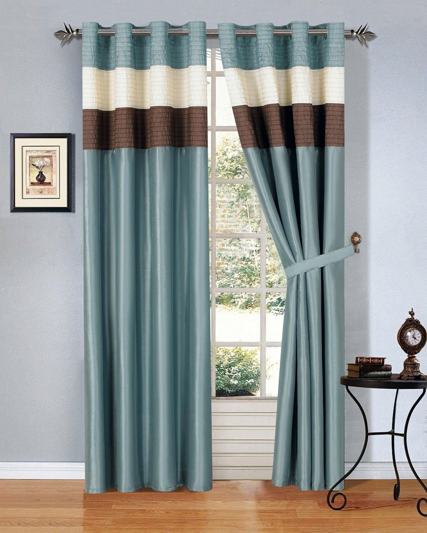 Well-known Amazon.com: 8 Piece Blue Brown Beige Regatta QUEEN Comforter Set  MM61
