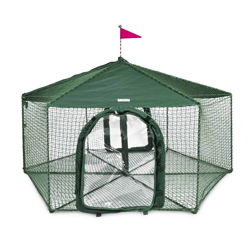 Gazebo Outdoor Cat Enclosure Green