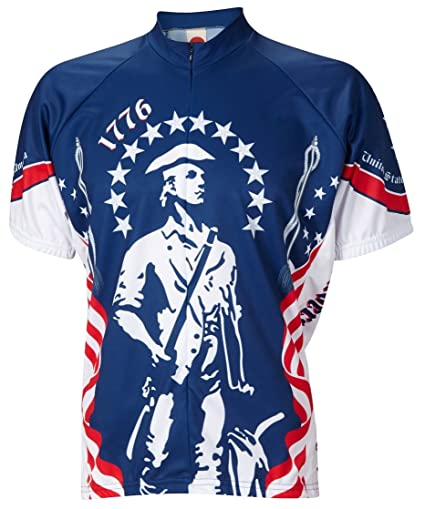 Amazon.com   World Jerseys 1776 Minutemen Cycling Jersey by Men s ... fbc7fbcf5