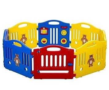Amazon.com : Baby Playpen Kids 8 Panel Safety Play Center Yard ...