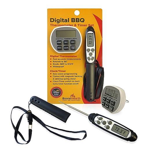 Digital Alimentos Termómetro/temporizador de cocina/Cronómetro ...