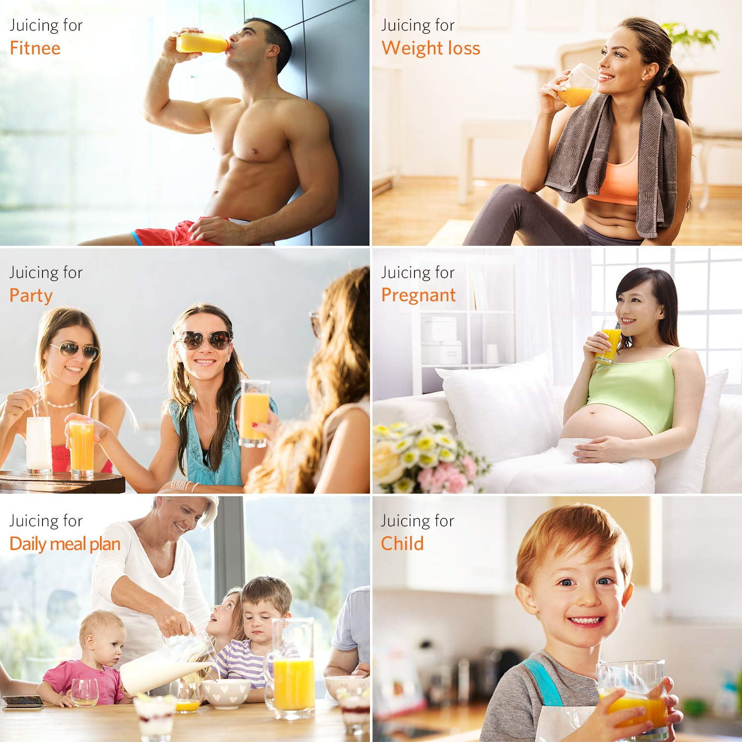 Homever Juicer Machines, Slow Masticating Juicer for Fruits and Vegetables, Quiet Motor, Reverse Function, Easy to Clean Hight Nutrient Cold Press Juicer Machine with Juice Cup & Brush, BPA-Free by Homever (Image #9)