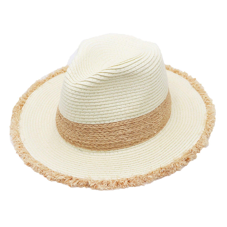 001140941 Amazon.com: B dressy straw hat ladies hats Panama hats summer travel ...