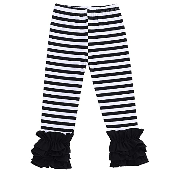 Steampunk Kids Costumes | Girl, Boy, Baby, Toddler Little Girls Double Icing Ruffle Leggings Pants Cotton Tights Active Trousers $6.35 AT vintagedancer.com