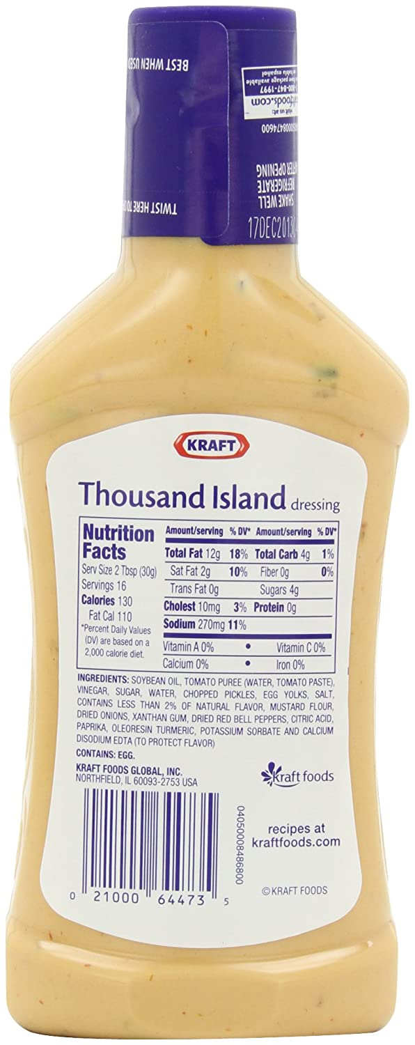 Thousand Island Nutrition Facts