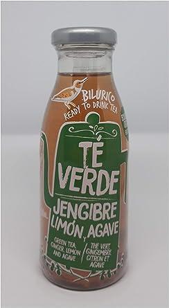 Pack 6 botellas de Té verde ecológico jengibre, limón y agave ...