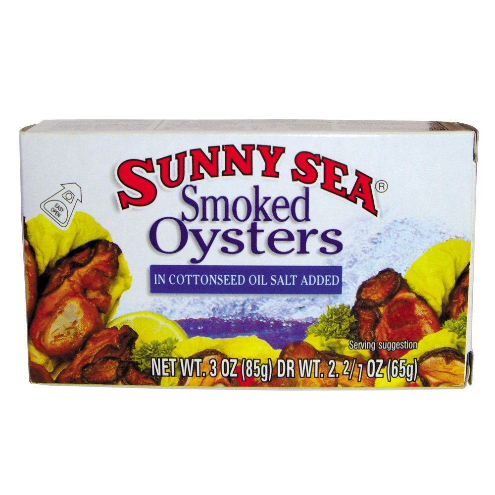 Sunny Sea Smoked Oysters In Oil, 3 Ounce (Pack of 12)