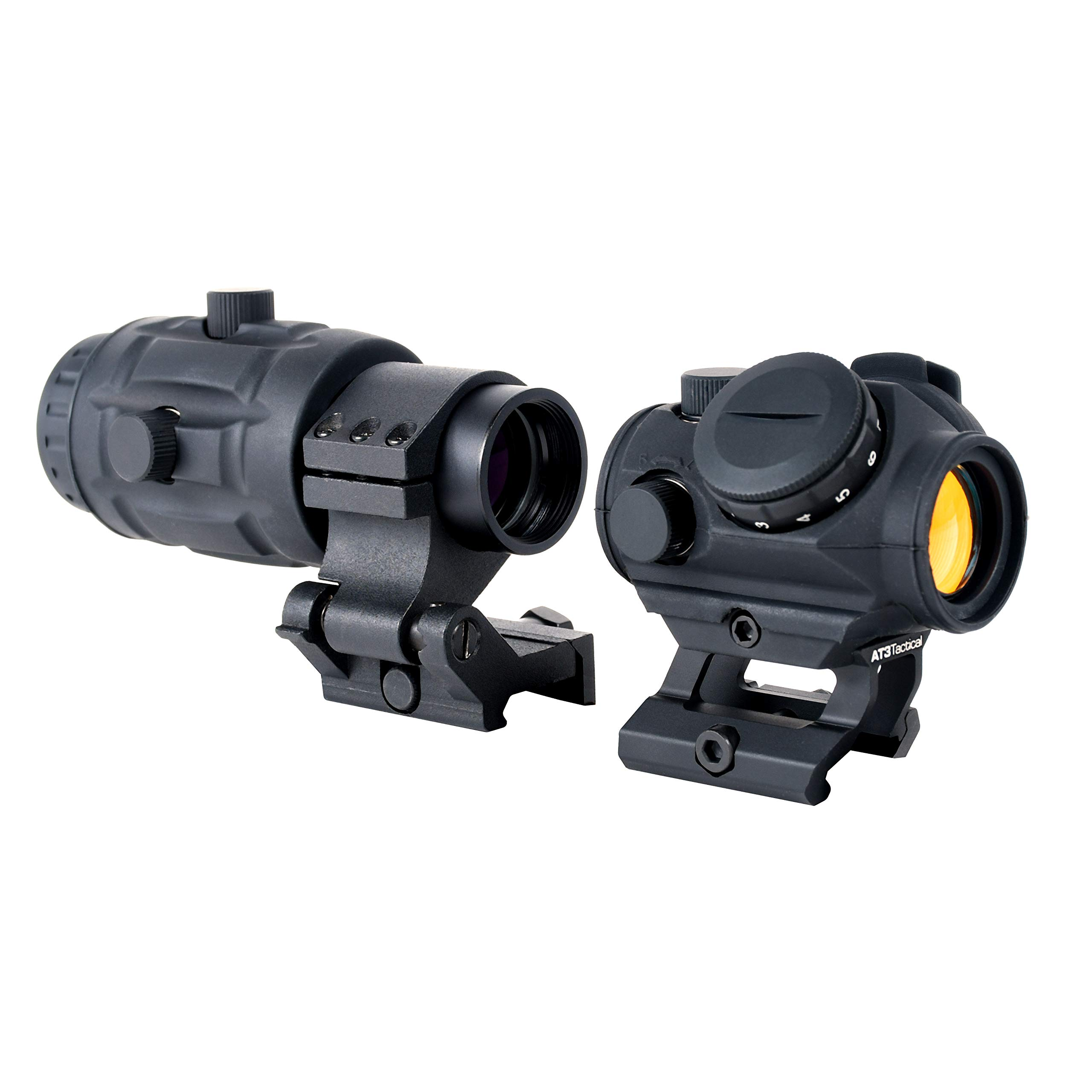 AT3 Tactical RD-50 Red Dot Sight + 3X RRDM Red Dot Magnifier Combo Kit by AT3 Tactical