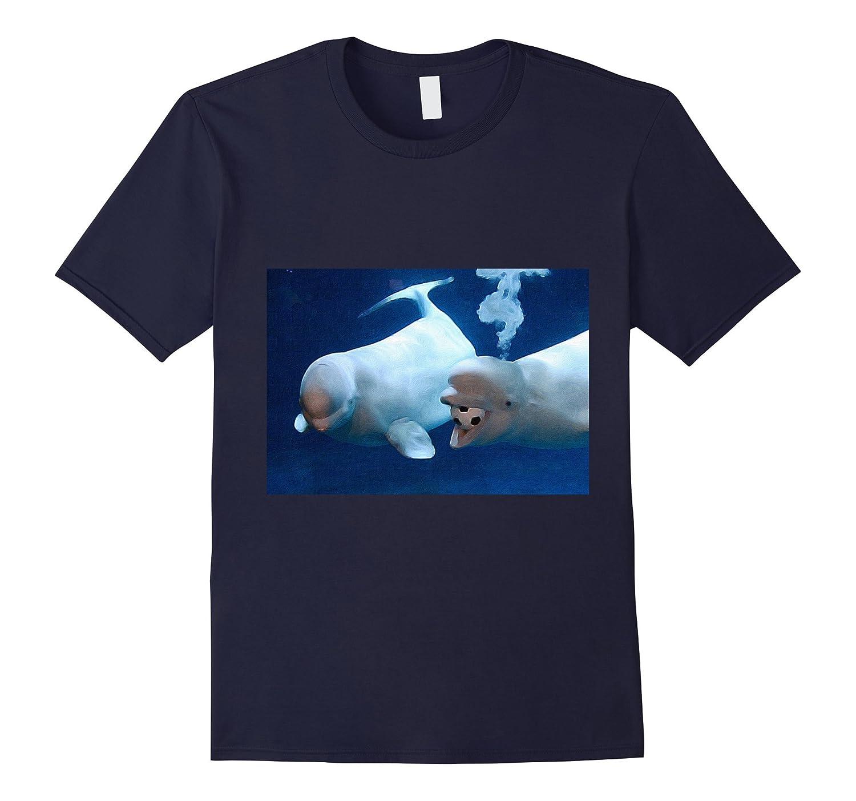 Beluga Whale Tee Shirt A Playful Pair colorful-BN