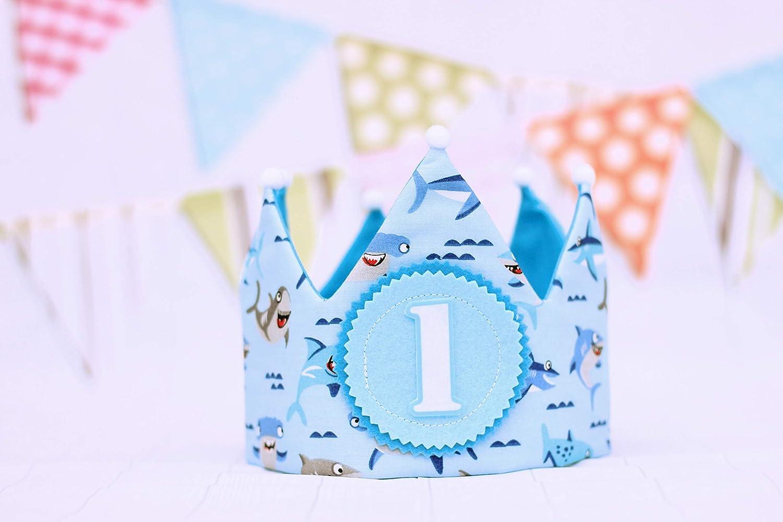 Corona cumpleaños bebé, baby shark, regalo primer cumpleaños ...
