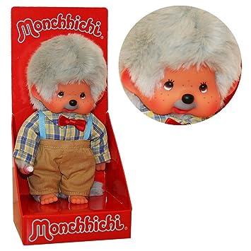 Kiki - Monchhichi - Peluche Garçon comme grand-père - Grandpa - Poupée, 20cm: Amazon.es: Juguetes y juegos