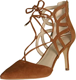 7293a6512c1a Marc Fisher Women s Truthe Heel with Straps-Medium Brown