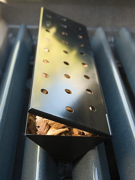 Recipiente de Ahumado Grande en Forma de V para Parrilla de Gas Antiadherente de Charcoal Companion