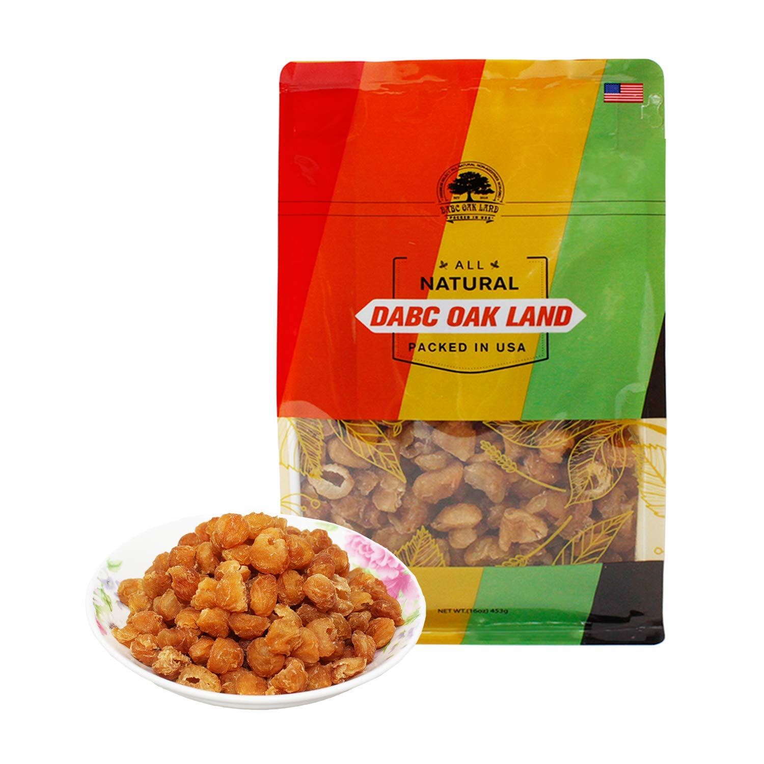 DOL Natural Dried Longan Fruit 100% Fruit Meat,Thailand sun dried longan,泰國桂圓幹/龍眼乾 16OZ. Packed in USA..
