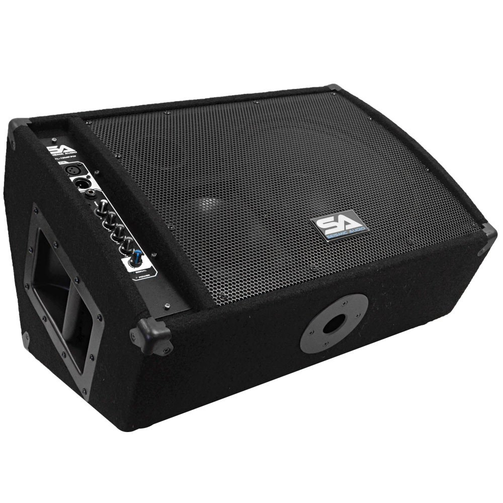 Seismic Audio FL-12MP-PW 300-Watt RMS 2-Way 12-Inch Floor/Stage Monitor Wedge Style with Titanium Horn by Seismic Audio