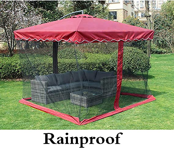 Paraguas Exterior Anti-Umbrella/Outdoor Market Umbrella/Sunshade Tent/Garden Umbrella, Soporte de Aluminio Tela de poliéster Impermeable UV Anti-Mosquito Plegable, Moderno: Amazon.es: Hogar