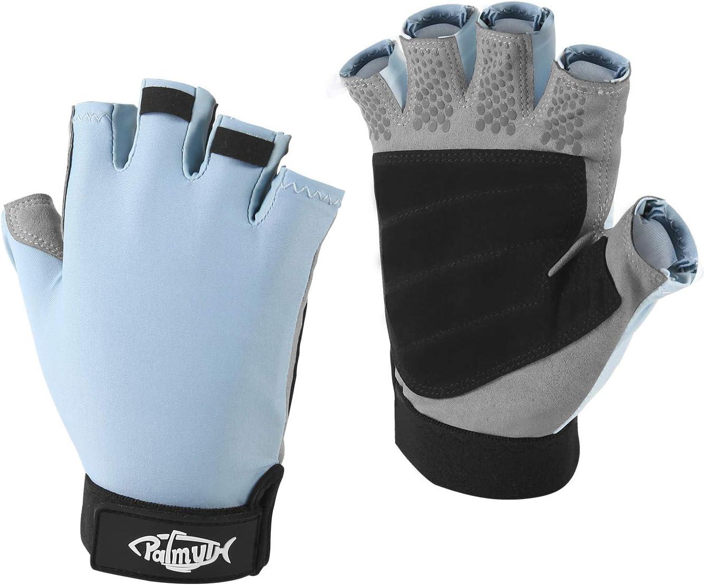 1 Pair Sun Gloves Half Finger Fishing Gloves Anti-UV Sun Protection 50 UPF