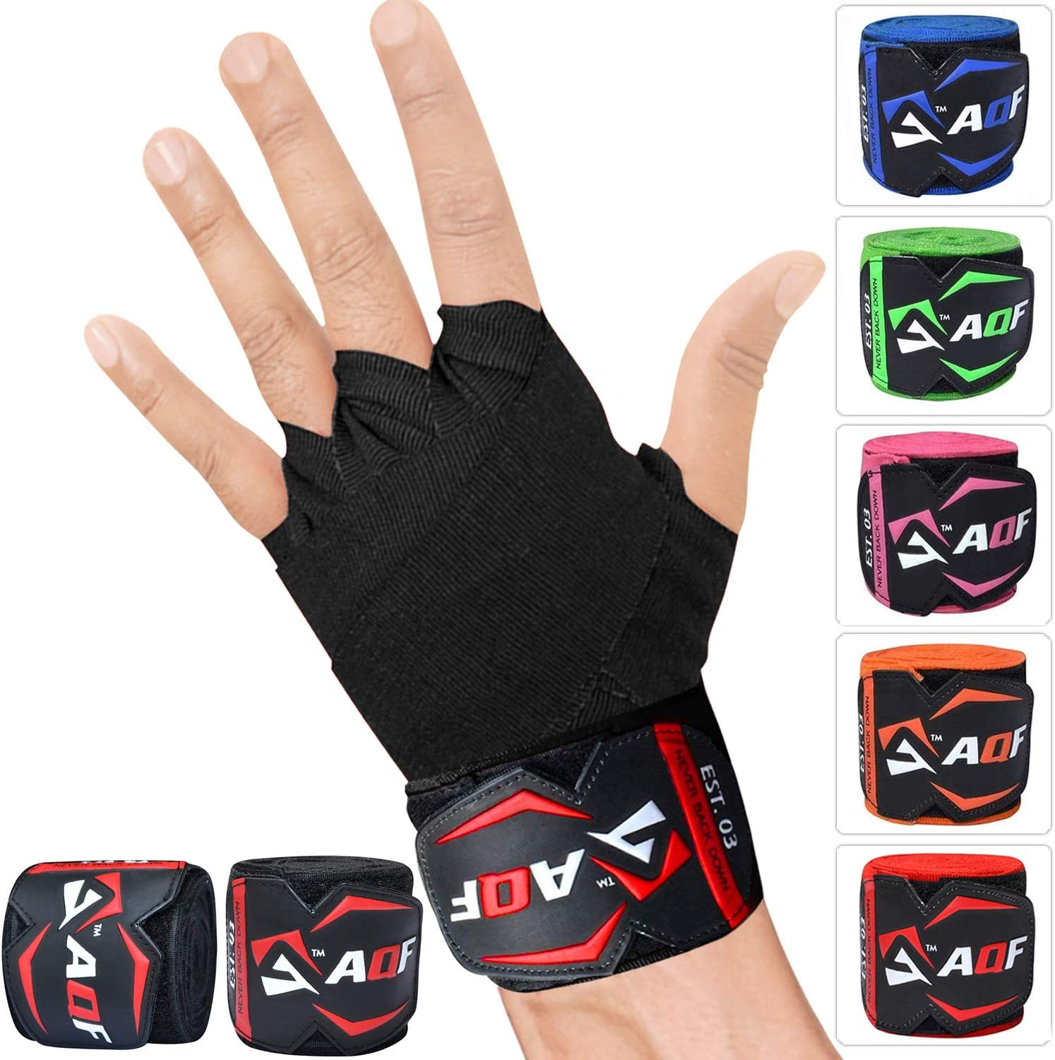 AQF Hand Wraps 4 m Inner MMA Boxing Gloves Bandages Training Muay Thai Stretch