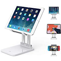 SooPii Sturdy Tablet Stand, Dual Aluminum alloy Support, Height & Angles Adjustable, Foldable,Compatible with Microsoft…