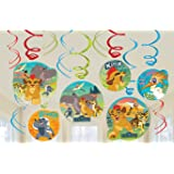 Lion Guard Hanging Party Swirl Decorations 12 count Lion King Birthday Party Supplies
